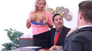 Hard Sex With Big Round Tits Nasty Office Girl (Olivia Fox) video-23