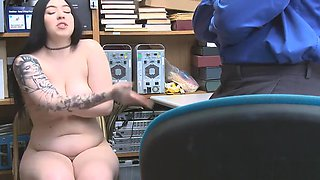 Officer Marcus London punished Amilia with his hard cock for stealing undergarments