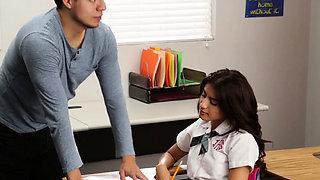 Latina highschool uniformed teen