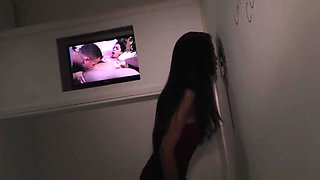 Ebony Teen Nia Nacci Takes White Cock At A Gloryhole